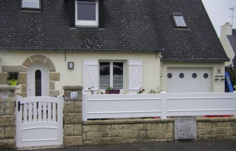 Les Clôtures D039Armor CLOTURE TREGOR PLEINE Et PORTILLON TREGOR DOUBLE CINTRE